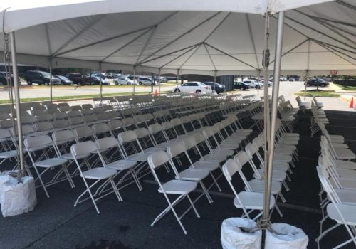 Frame Tent with Chairs