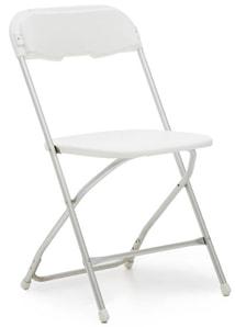 Alloy Folding Chair-White