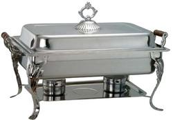 Chafing Dish 8 qt wood handle