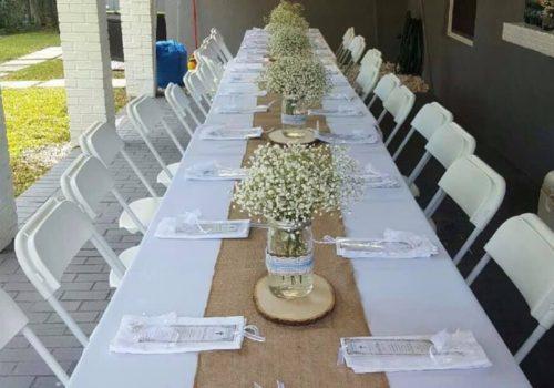 Chair White Folding Banquet