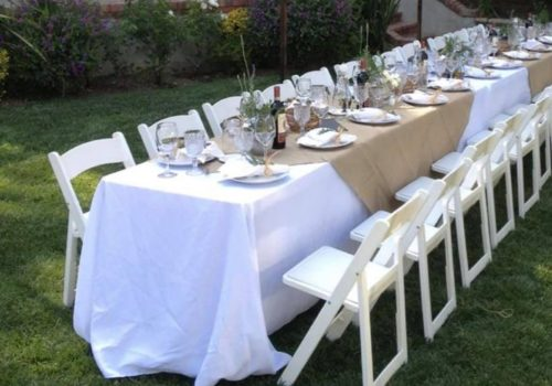Chair White Padded Resin Banquet
