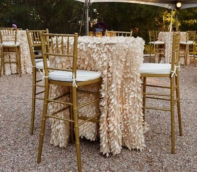 Gold Chiavari around a round table
