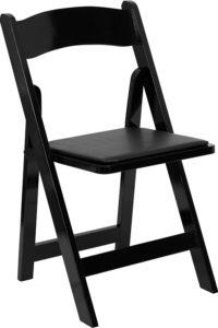 Resin Padded Chair-Black