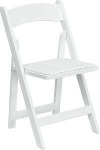 Resin Padded Chair-White