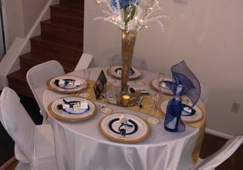 Round Table with Chair Covers
