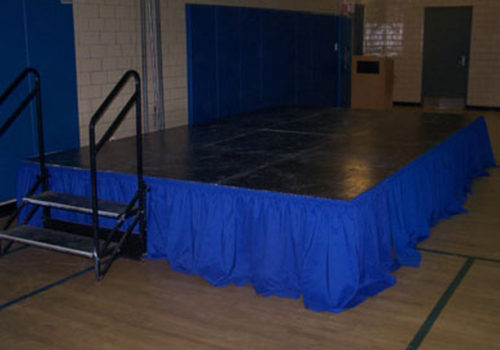 Stage with Royal Blue Skirts