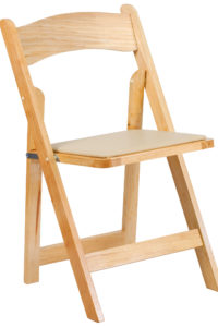 Wooden Padded Chair Blonde