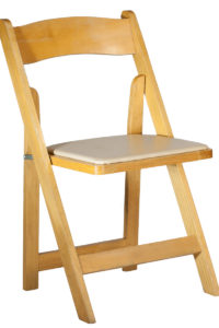 Chair Padded-Natural Wood